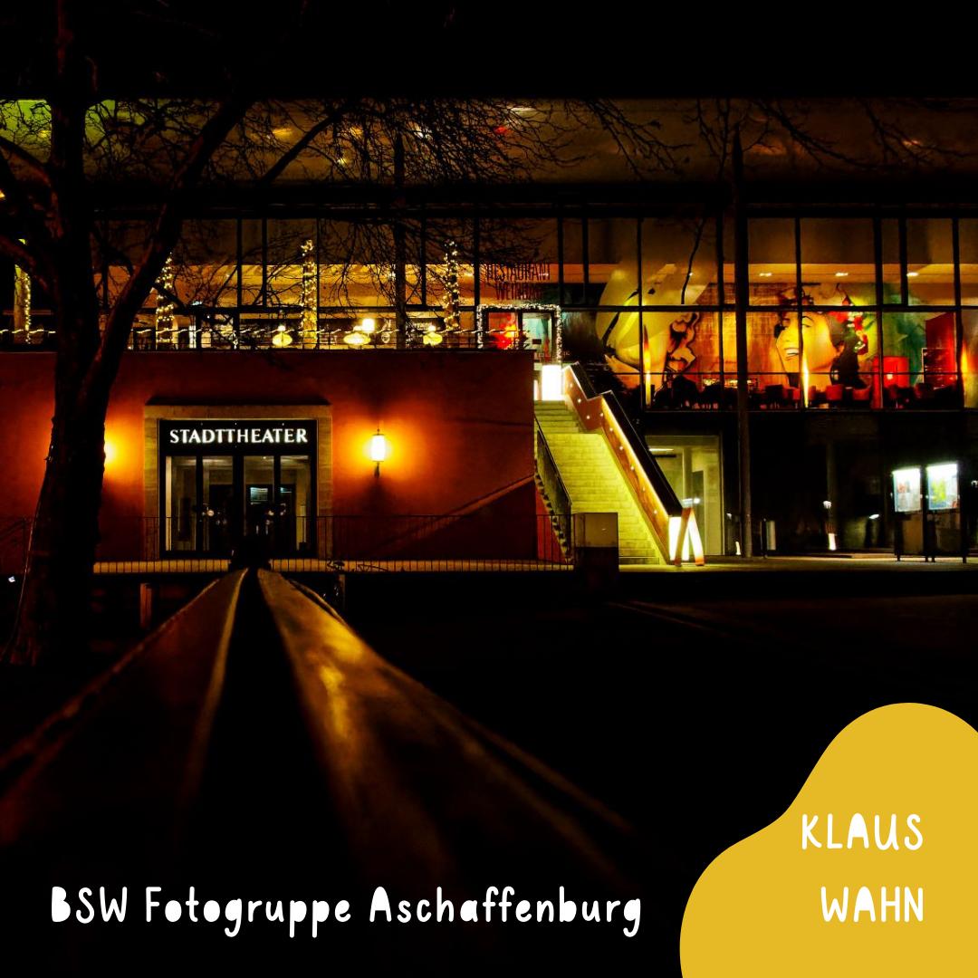 Aschaffenburg Theaterplatz Foto: Klaus Wahn - auf der Webseite www.aschaffenbuch.de - Vorlage für Illustration - Kinderbuch
