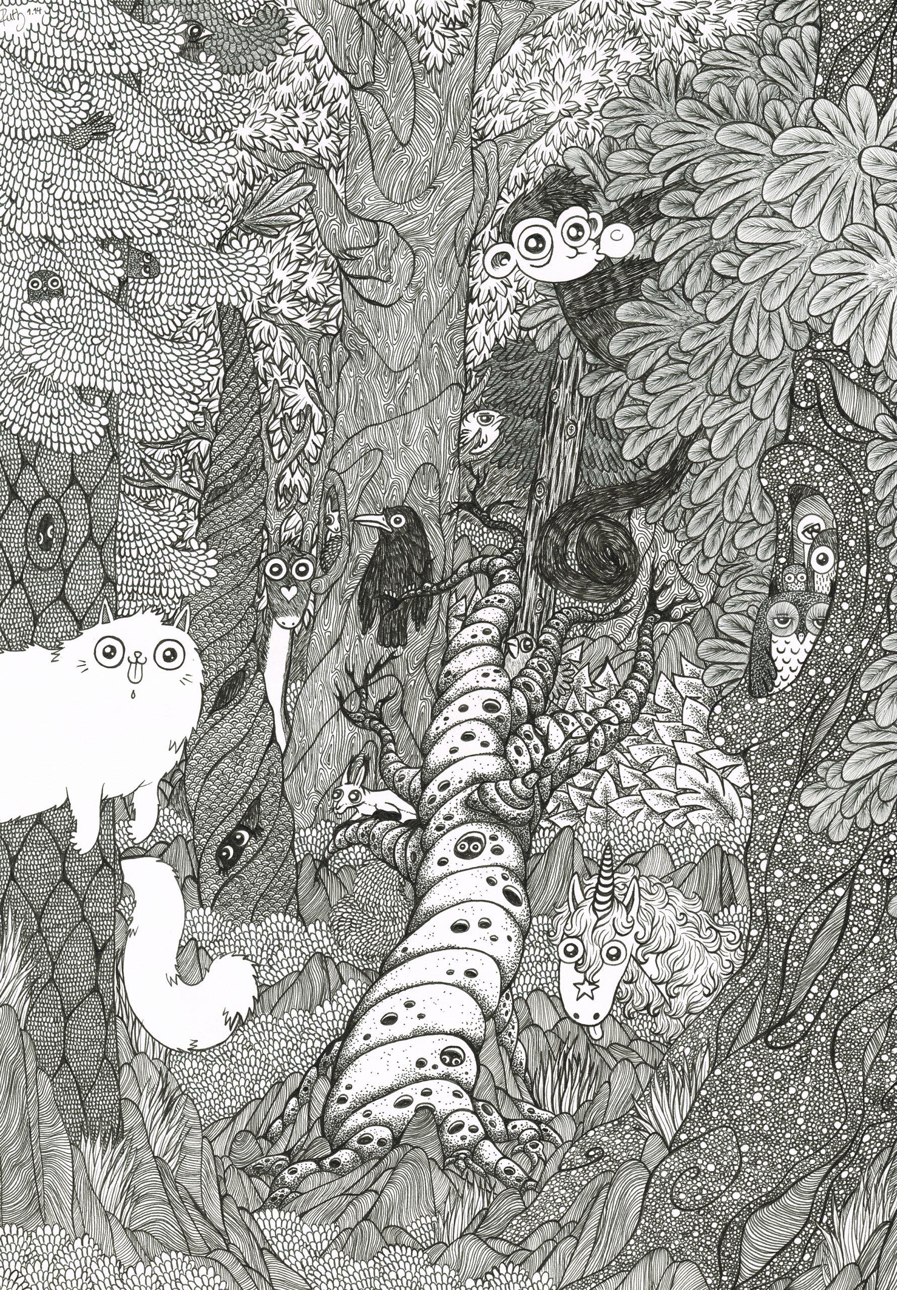 Illustrationsbeispiel - Ruth Berninger - Auf der Webseite www.aschaffenbuch.de