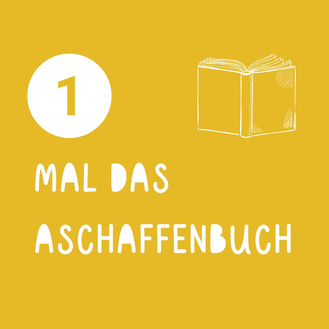 Icon - aufgeschlagenes Buch auf gelbem Hintergrund - auf der Webseite www.aschaffenbuch.de
